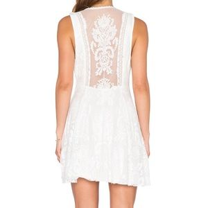 Free People off white lace reign over me dress 0